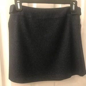 Navy Wool Mini Skirt